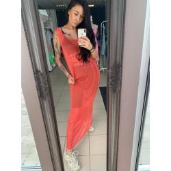 Silva Dress Long Red