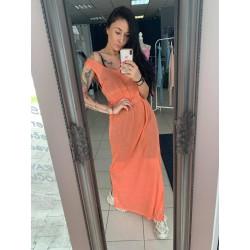 Silva Dress Long Orange